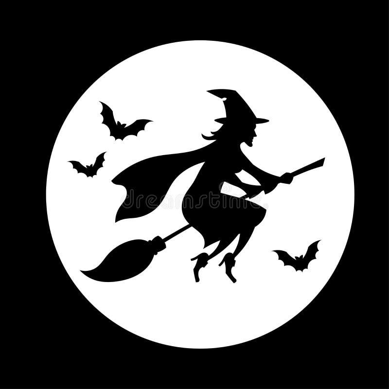 Voo da bruxa ilustração royalty free