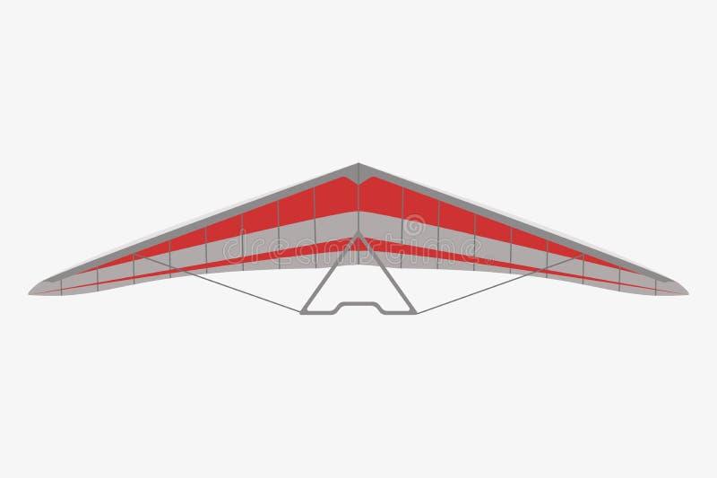 Voo de Hang Glider no céu ilustração do vetor