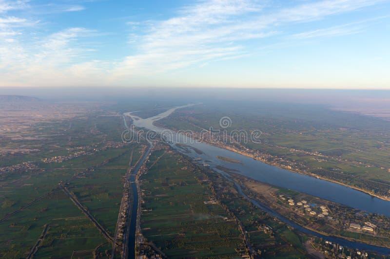 Voo do balão em Luxor, bonito foto de stock