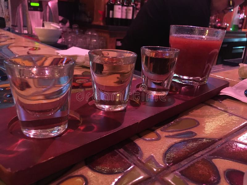 Voo do Tequila foto de stock royalty free