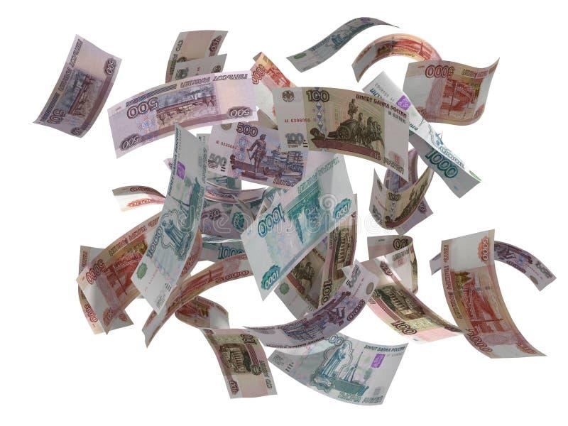 Voo dos rublos do russo imagens de stock