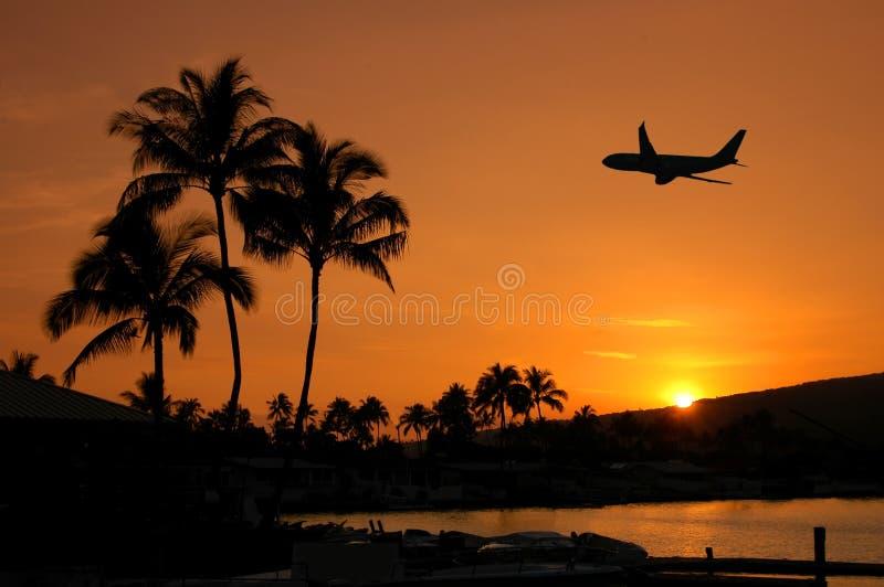 Voo em Havaí fotos de stock royalty free