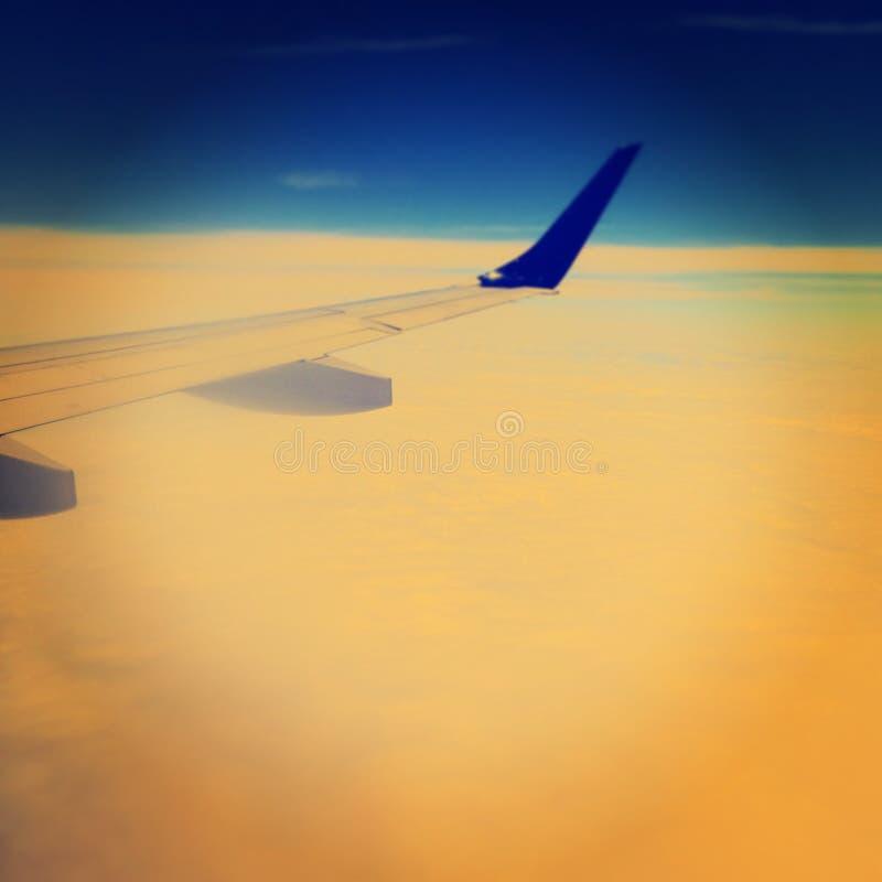 voo na cor fotografia de stock