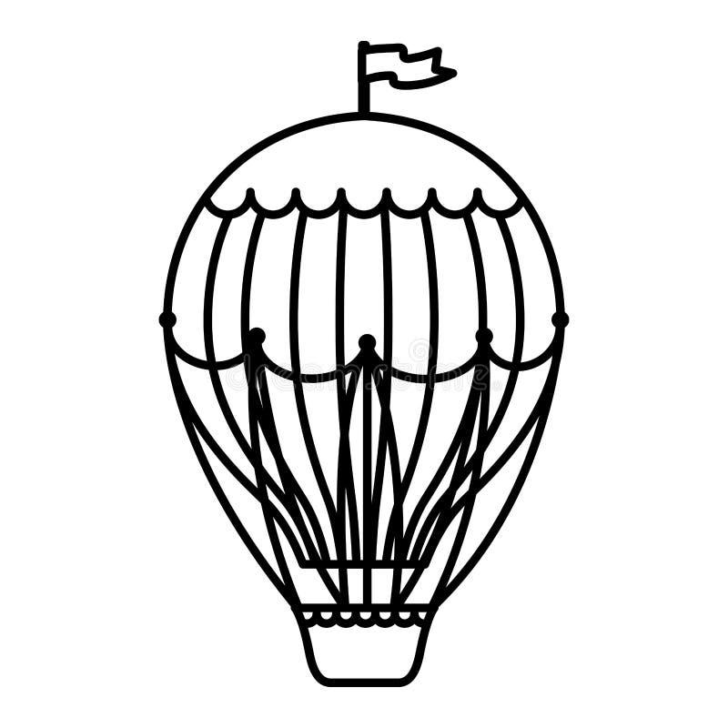 Voo quente do ar do balão ilustração royalty free