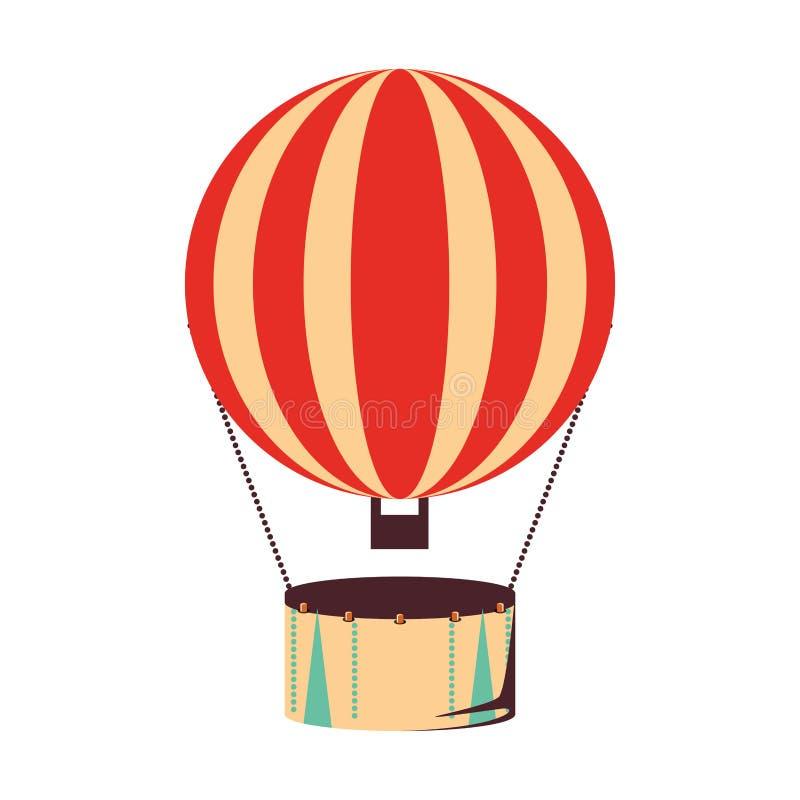 Voo quente do ar do balão ilustração stock