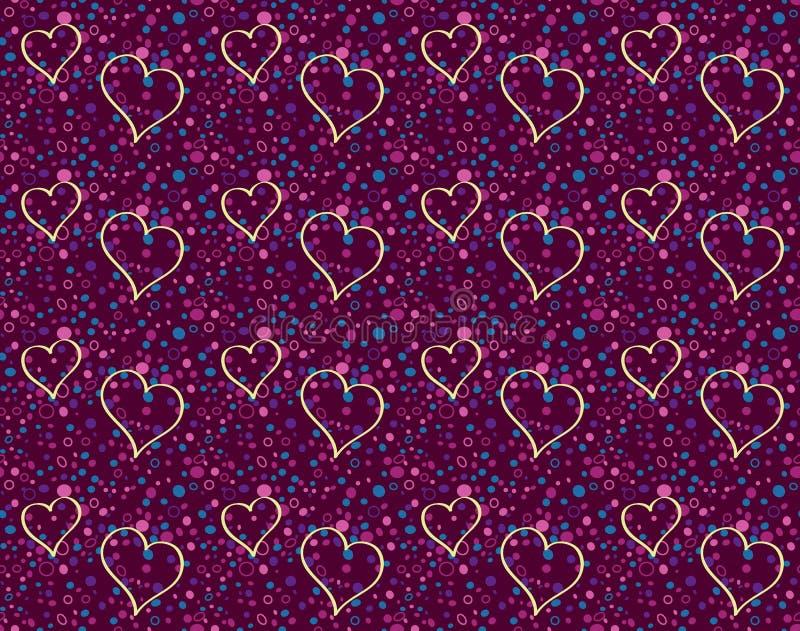 Voo romântico dos corações ilustração stock