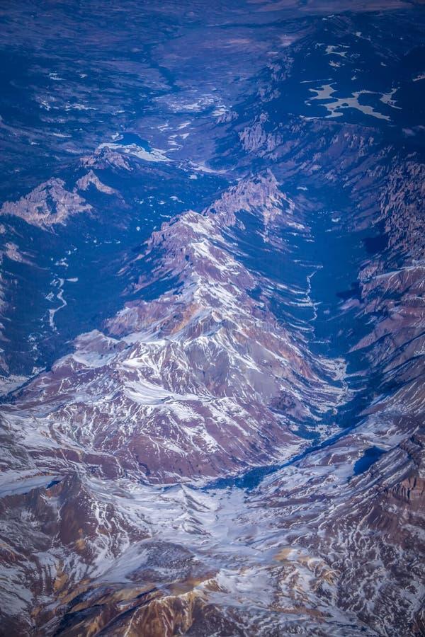Voo sobre montanhas rochosas de Colorado fotos de stock