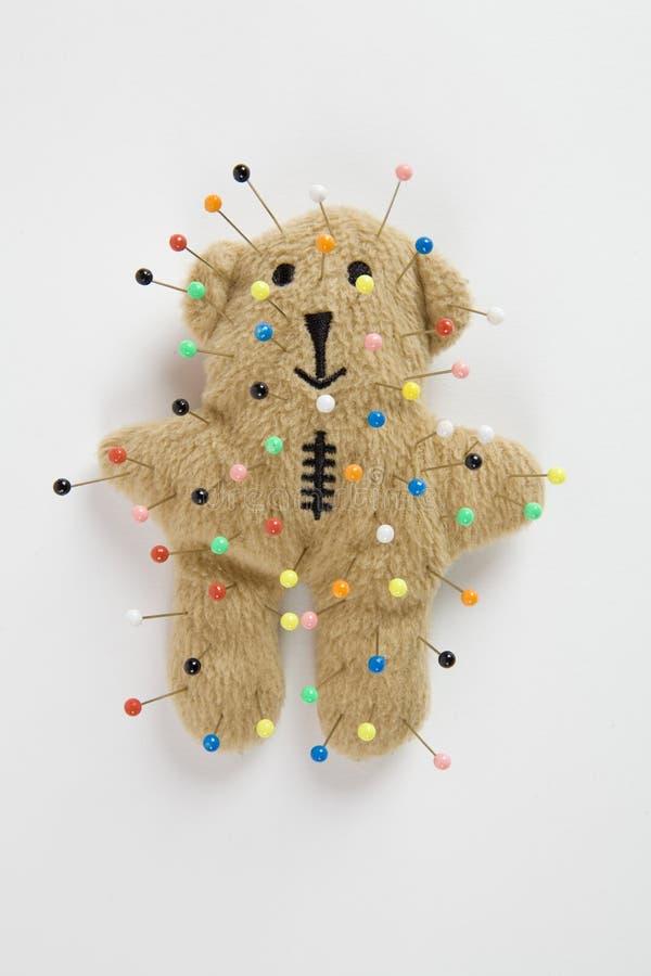 Voodoo плюшевого медвежонка стоковая фотография rf