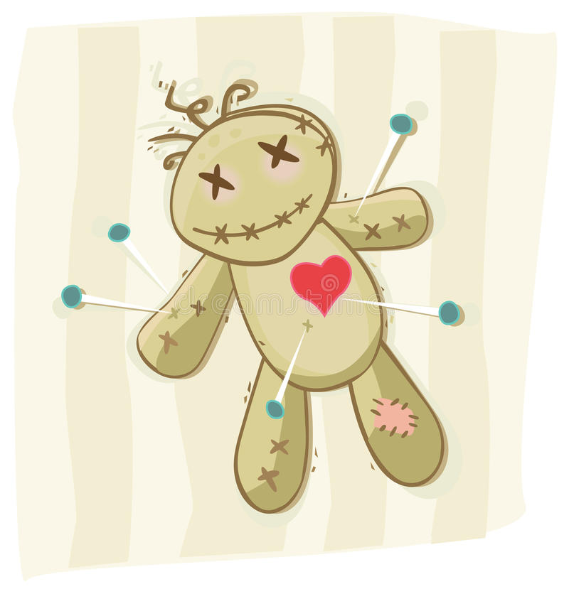 Download Voodoo doll stock vector. Illustration of clipart, execrate - 10896190