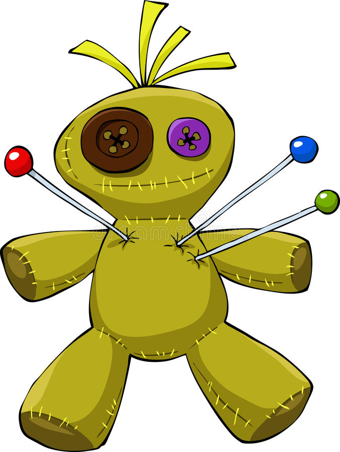 Voodoo doll vector illustration
