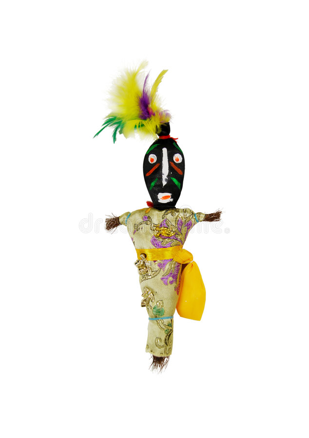Voodoo doll. Representing an interesting culture of magic and suggestions of luck and destiny stock photography