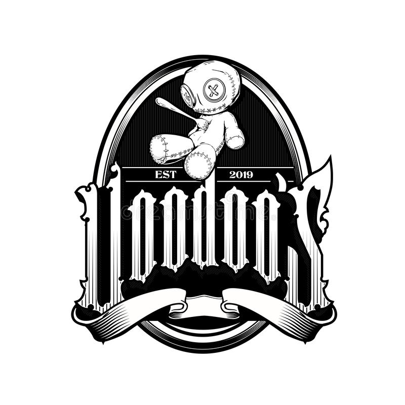 Free Voodoo Doll Cartoon Character Logo Template Stock Photo - 163497780