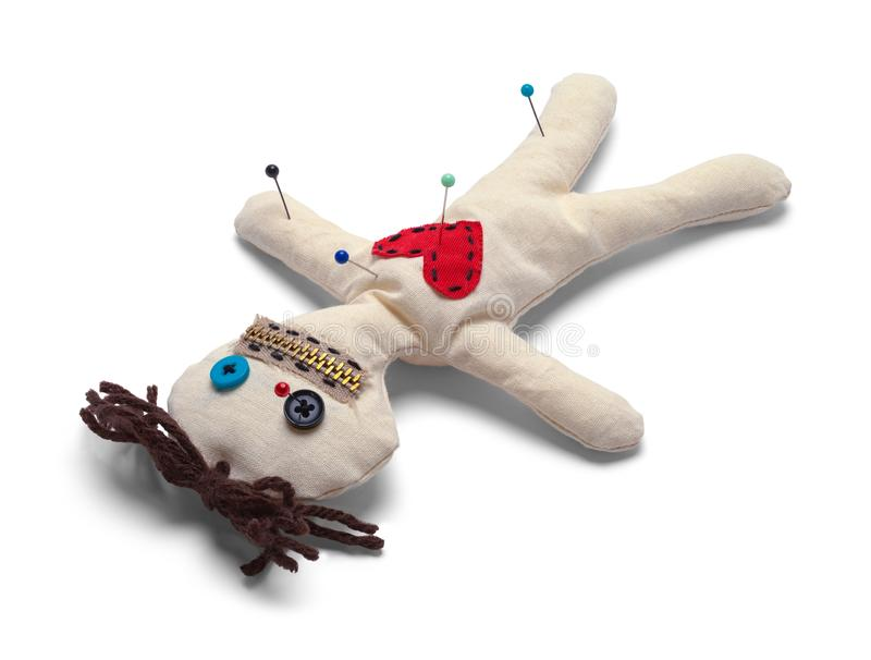 Upside Down Voodoo Doll stock photography
