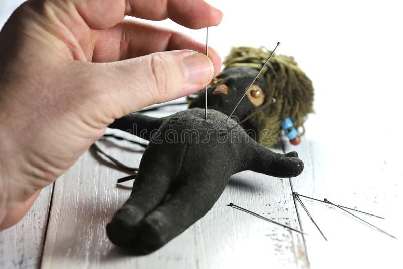 Voodoo doll royalty free stock images