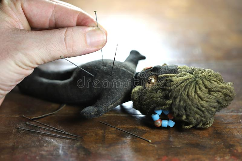 Voodoo doll royalty free stock photography
