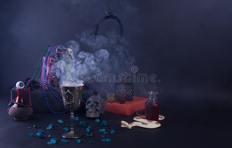 Voodoo Magic. Halloween voodoo mystery, magic, superstition, and intrigue stock photography