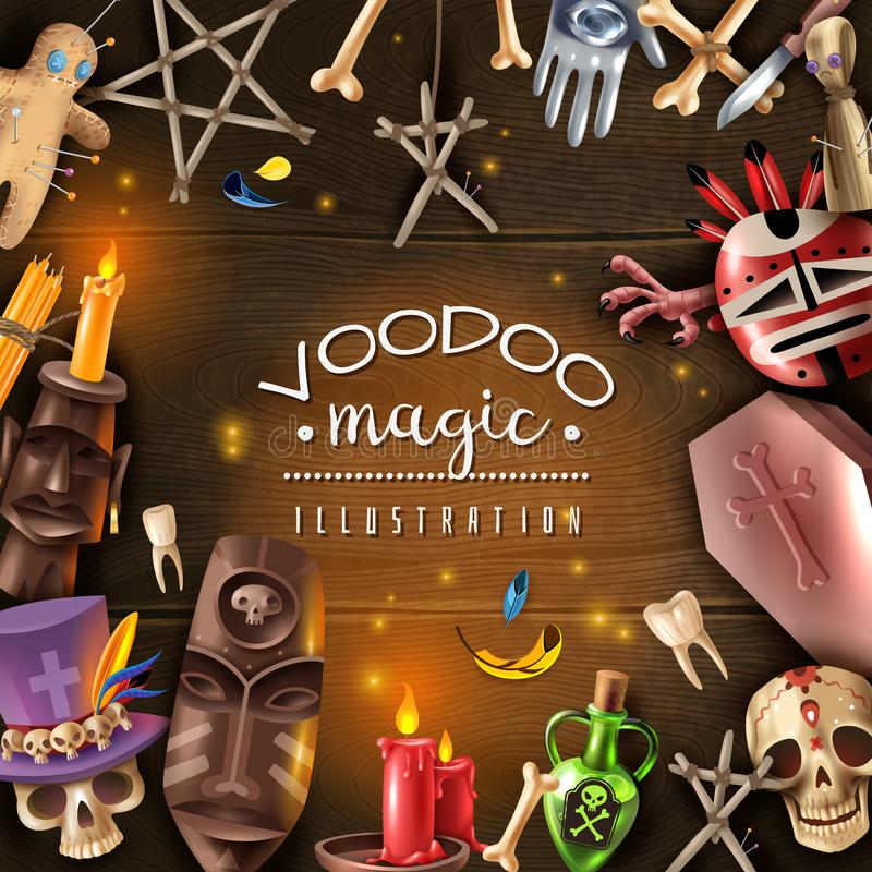 Free Voodoo Magic Realistic Frame Stock Images - 129544854