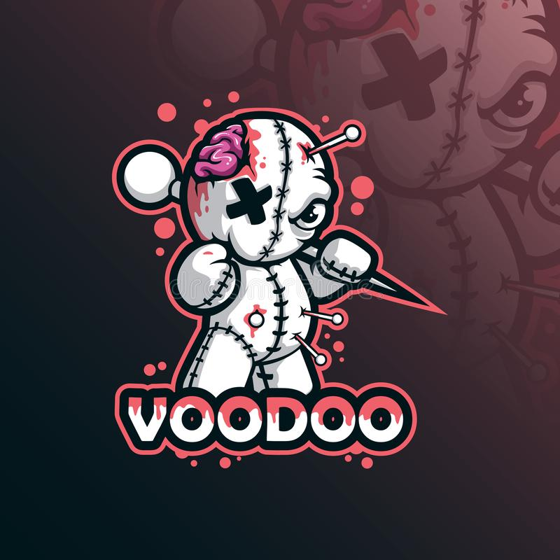 Free Voodoo Mascot Logo Design Vector With Modern Illustration Concept Style For Badge, Emblem And Tshirt Printing. Funny Voodoo Royalty Free Stock Image - 160082026