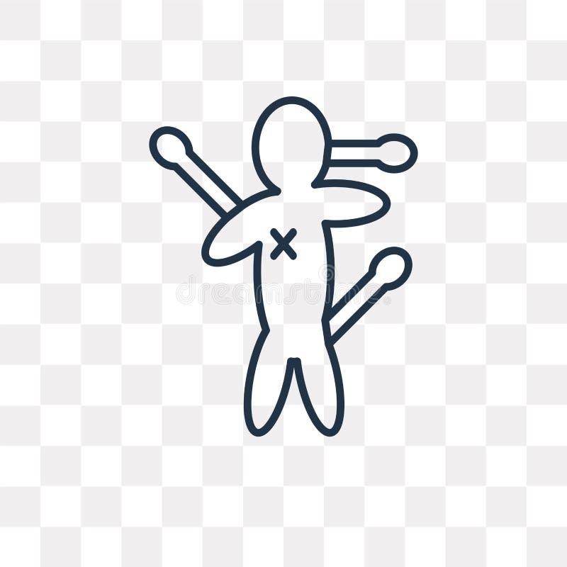 Voodoovektorsymbol som isoleras på genomskinlig bakgrund, linjär Vo stock illustrationer