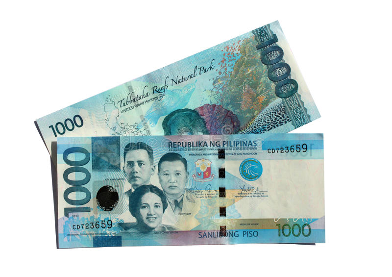 Voor & Achter 1000 Peso'srekeningen royalty-vrije stock foto