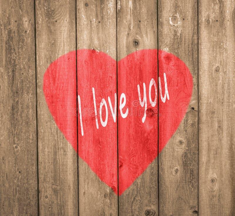 Voor altijd hou ik van je land valentine royalty-vrije stock foto