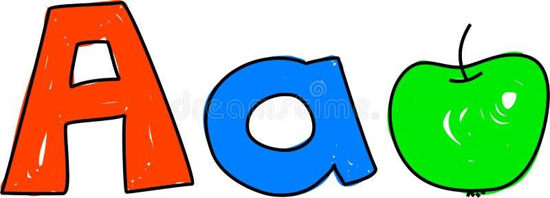 A is voor appel vector illustratie