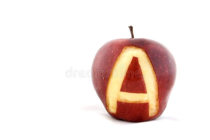 A Is Voor Appel Stock Foto's