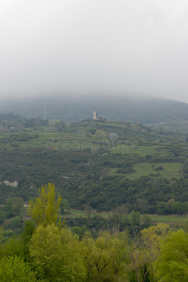 Voor de Kluis van San Juan de Ciliergo royalty-vrije stock foto