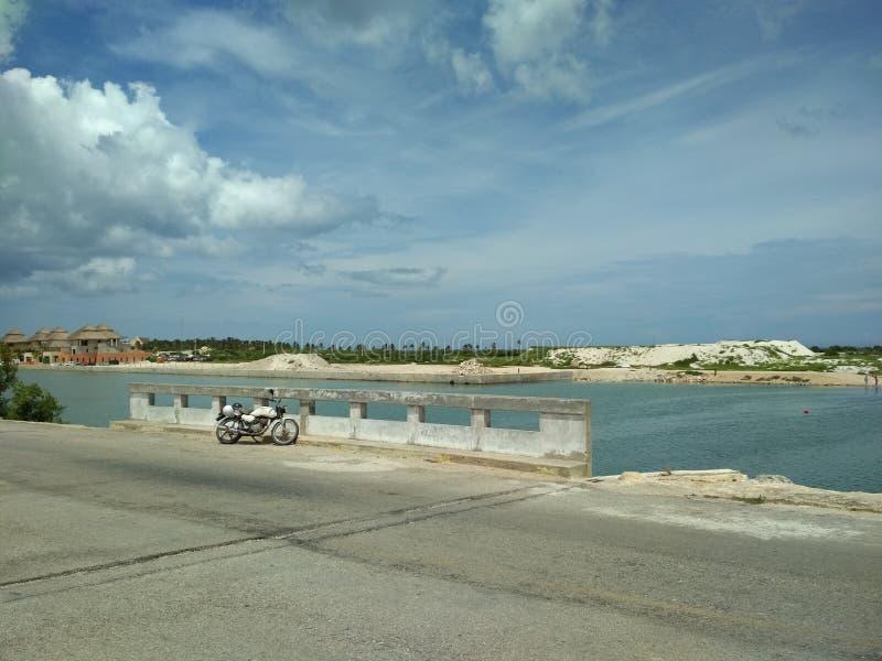 Voor de weg, Yucatan stock afbeelding