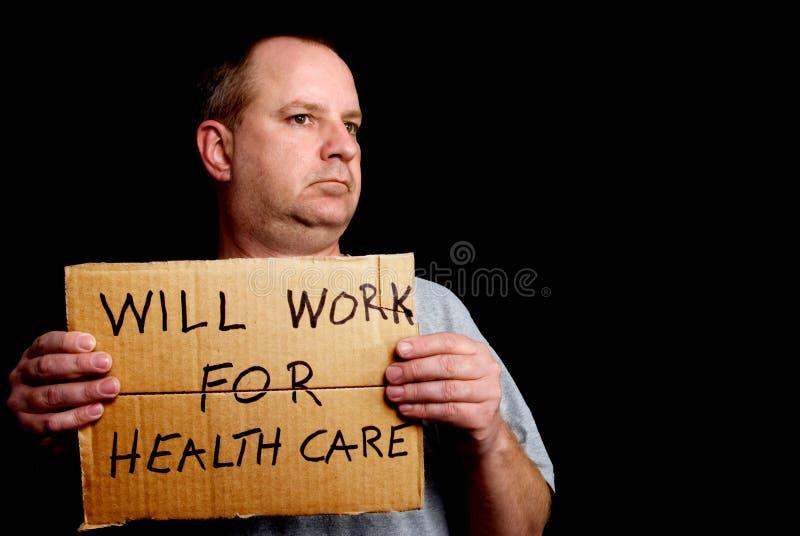 Voor Gezondheidszorg zal werken stock foto's