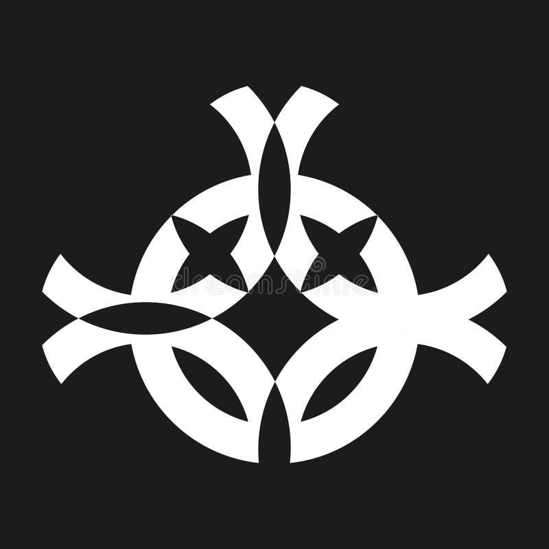 Voor het drukken geschikt wit kostuum tegengesteld symbool royalty-vrije illustratie