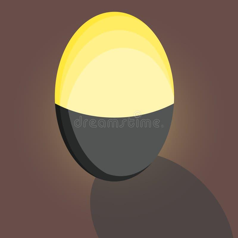 Voor het drukken geschikte schaduw gouden ei in gelukkig gevoel van mijn leven stock illustratie