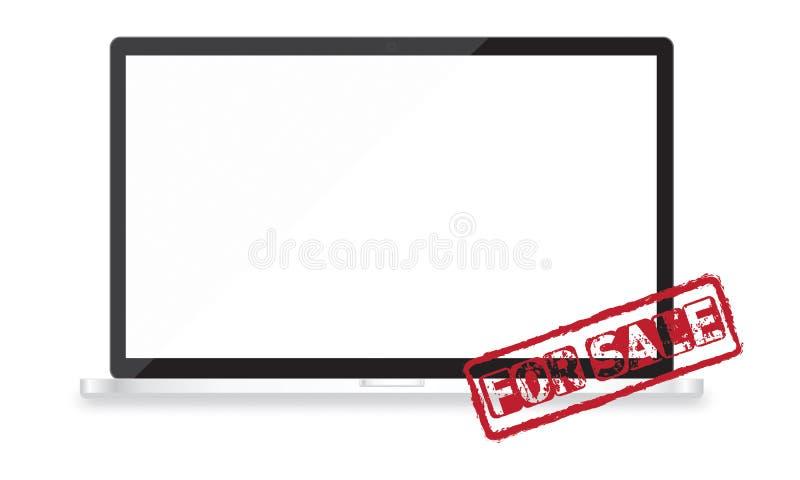 Voor het ontwerp en de websiteontwikkelings vectorapparaten van het verkoop ontvankelijke Web royalty-vrije illustratie