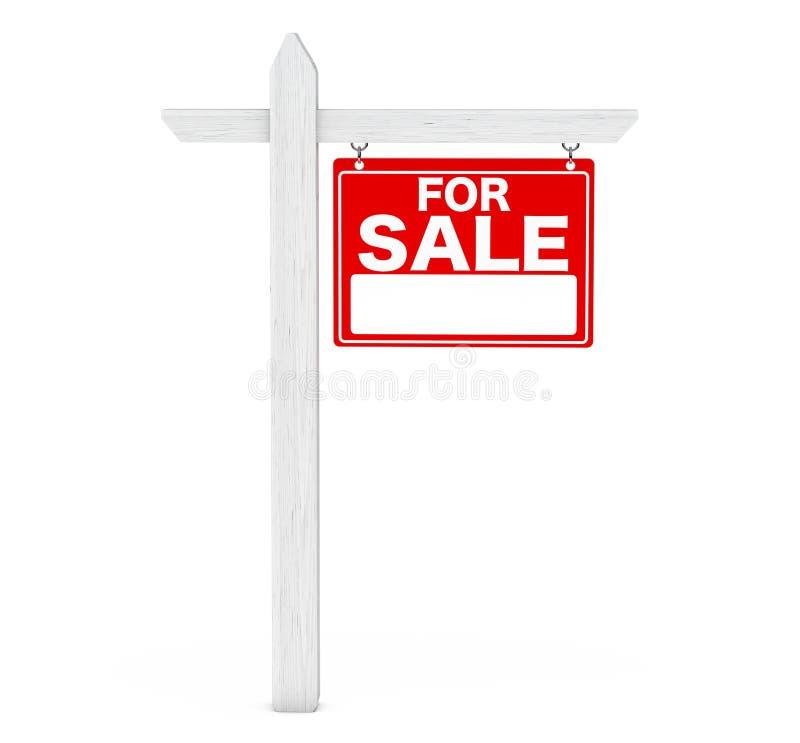 Voor het Teken van de Onroerende goederen van de Verkoop het 3d teruggeven stock illustratie