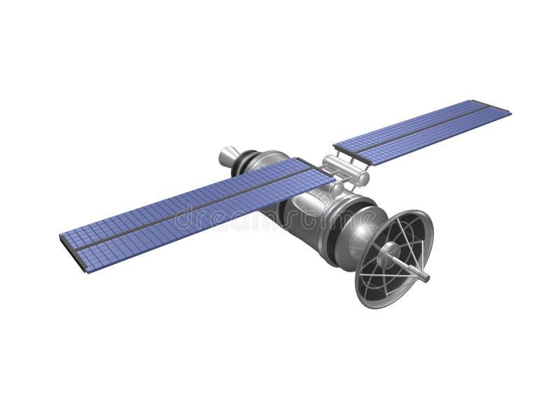 Voor hoogste zijaanzicht van satelliet stock illustratie