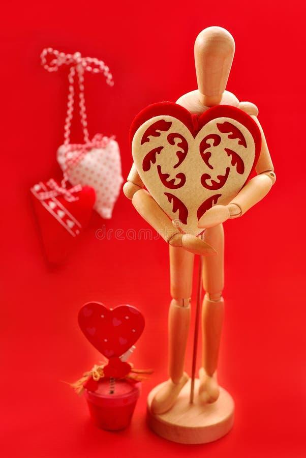 Voor Mijn Valentijnskaart Royalty-vrije Stock Afbeeldingen