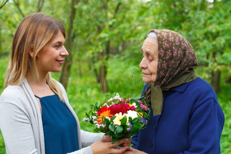 Voor oma, met liefde royalty-vrije stock foto