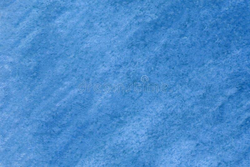 Voor ontwerp, oppervlakken Moderne blauwe waterkleur Ontwerpelement Abstracte inktvlek textureerde achtergrond Handgemaakt papier stock afbeelding