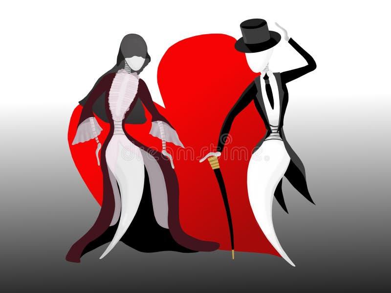 Voor ooit liefde royalty-vrije illustratie