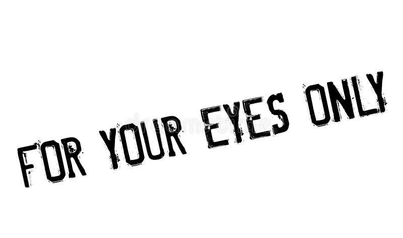 Voor uw ogen slechts zegel vector illustratie