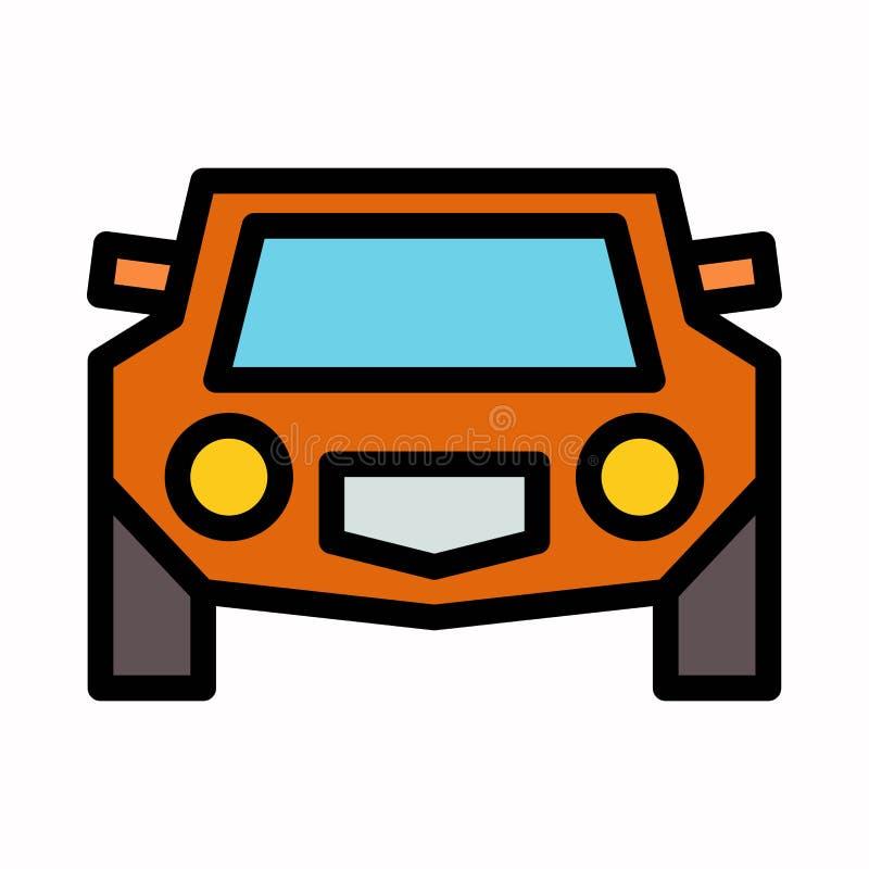Voor vector het embleemsymbool of illustratie van het autopictogram stock illustratie