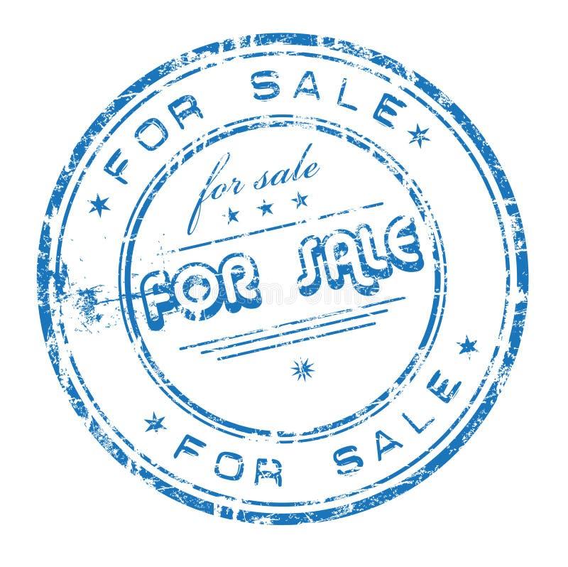 Voor verkoop rubberzegel vector illustratie