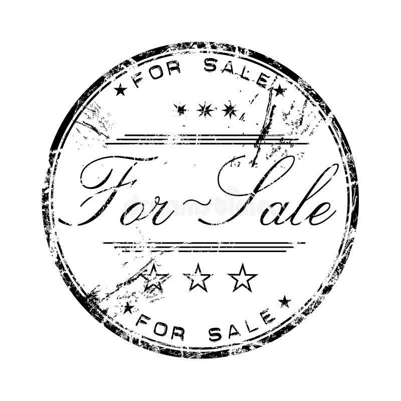 Voor verkoopzegel vector illustratie