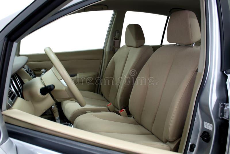 Voor zetels van een moderne auto stock afbeeldingen