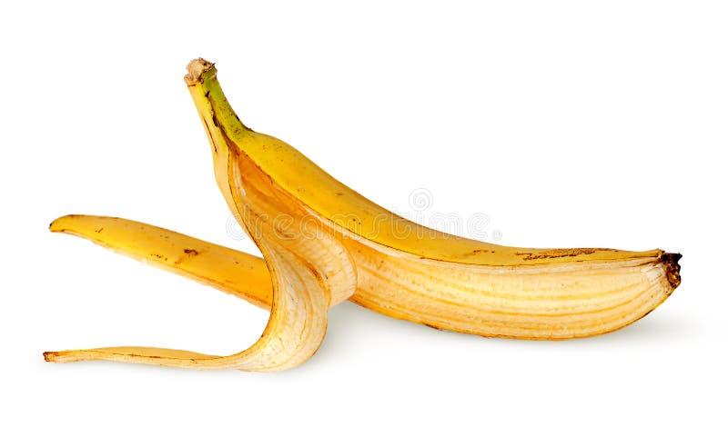 Vooraan horizontaal opgestelde bananeschil royalty-vrije stock foto's