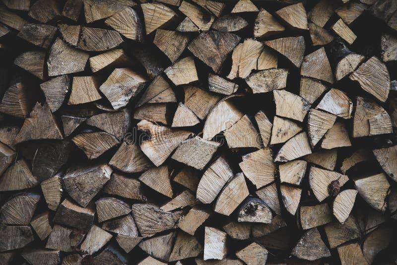 Vooraanzicht van brand het houten logboeken royalty-vrije stock fotografie