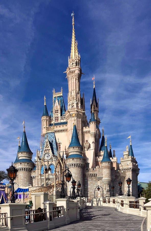 Vooraanzicht van Cinderella Castle in Walt Disney World royalty-vrije stock afbeelding