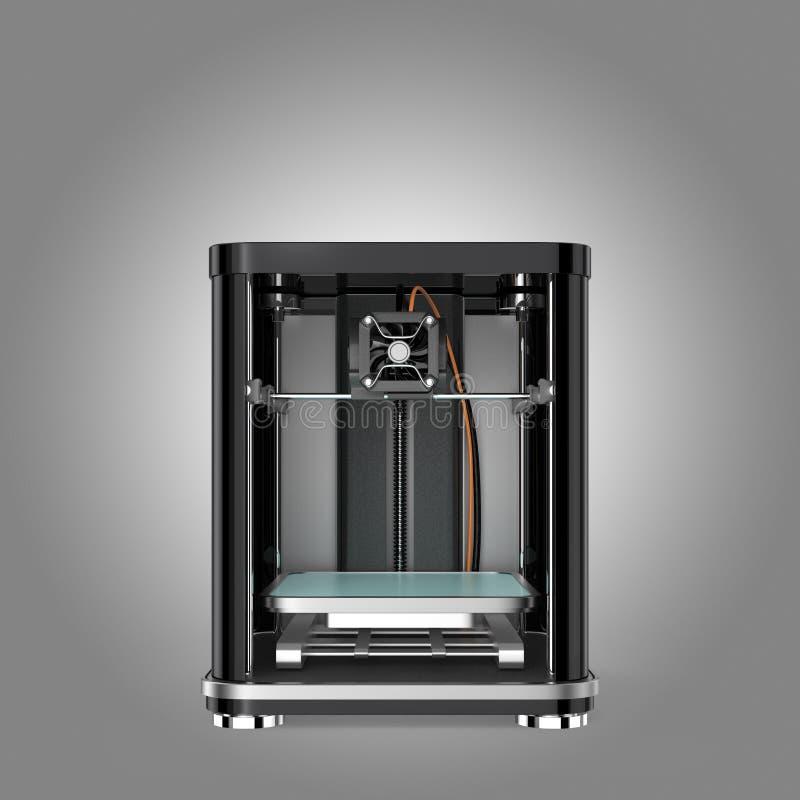 Vooraanzicht van 3D printer Knippend beschikbare weg stock fotografie