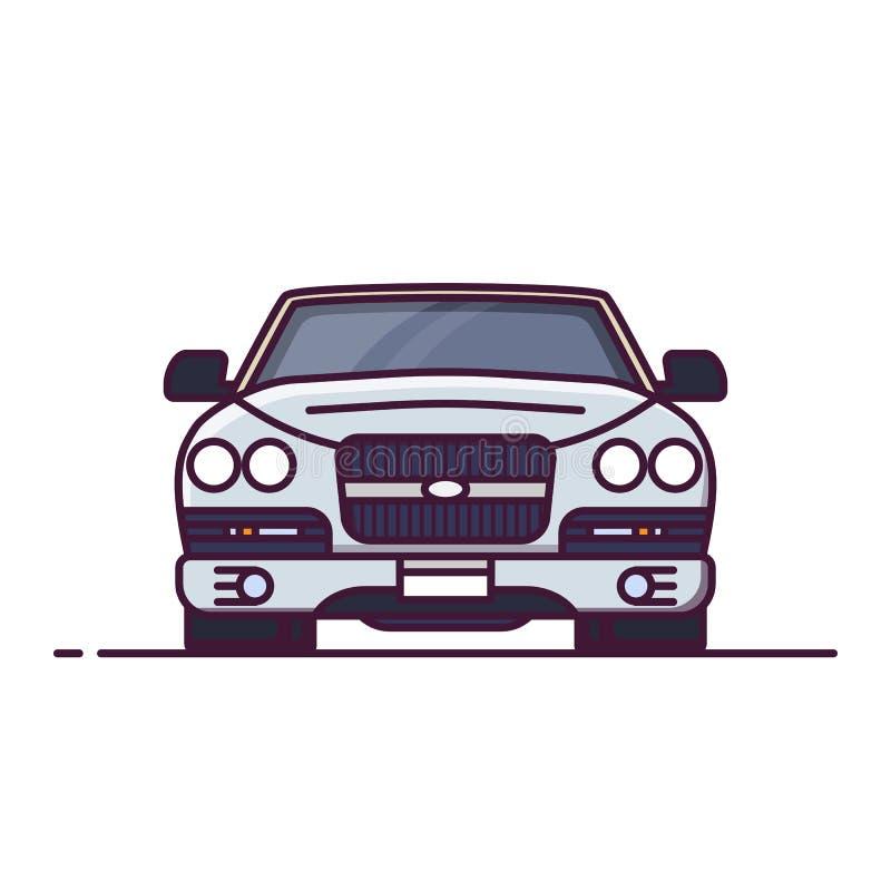 Vooraanzicht van luxeauto royalty-vrije illustratie