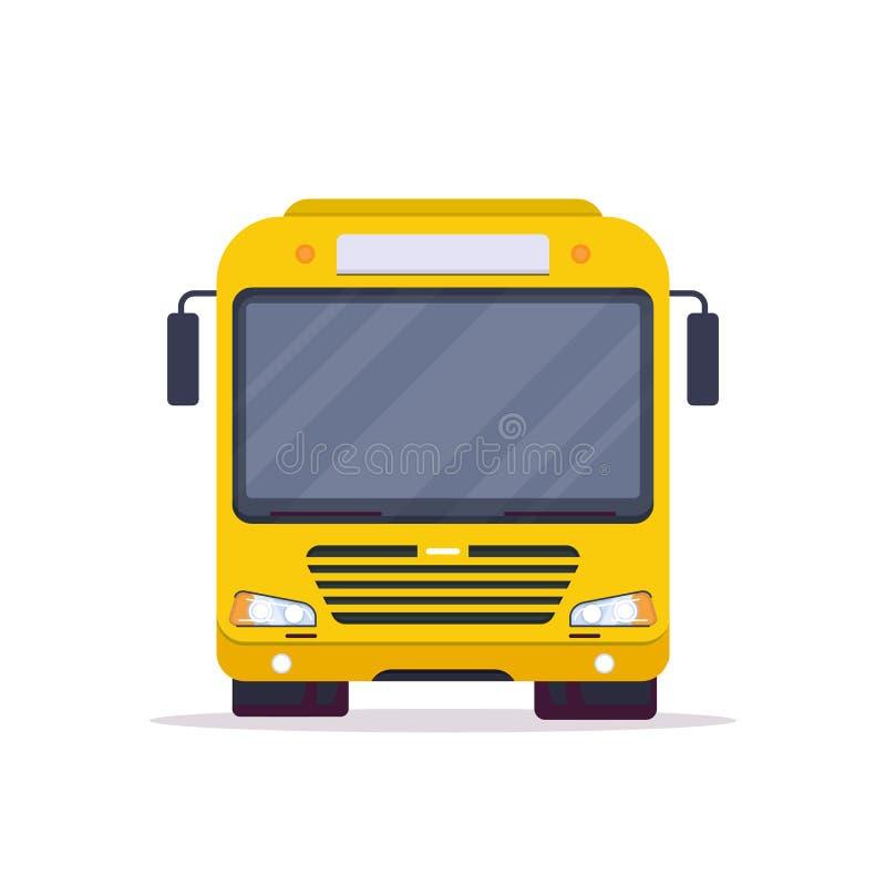 Vooraanzicht van stadsbus royalty-vrije illustratie